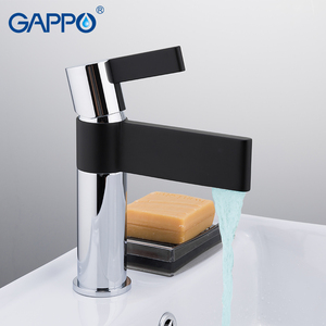 Image 4 - Gappo 샤워 수도꼭지 황동 분지의 수도꼭지 크롬과 블랙 욕실 수도꼭지 믹서 샤워 세트 벽 욕실 수도꼭지 믹서 torneira
