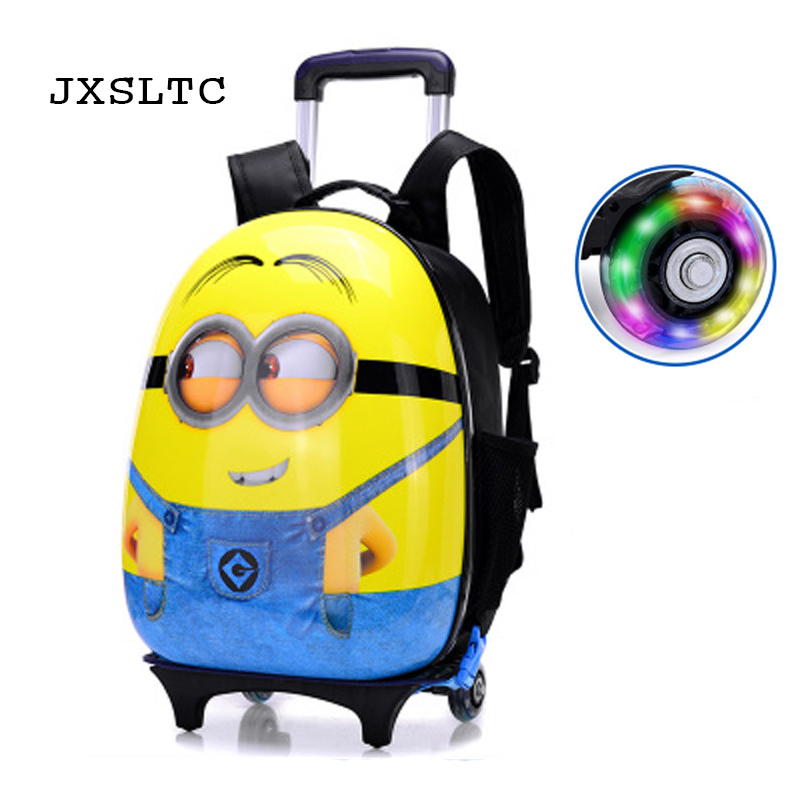 JXSLTC 2018 New Children Mochilas Kids School Bags With Wheel Trolley Luggage For Boys Girls Backpack Mochila Lnfantil Bolsas hello kitty children school bags mochilas kids backpacks with wheel trolley luggage for girls backpack mochila infantil bolsas