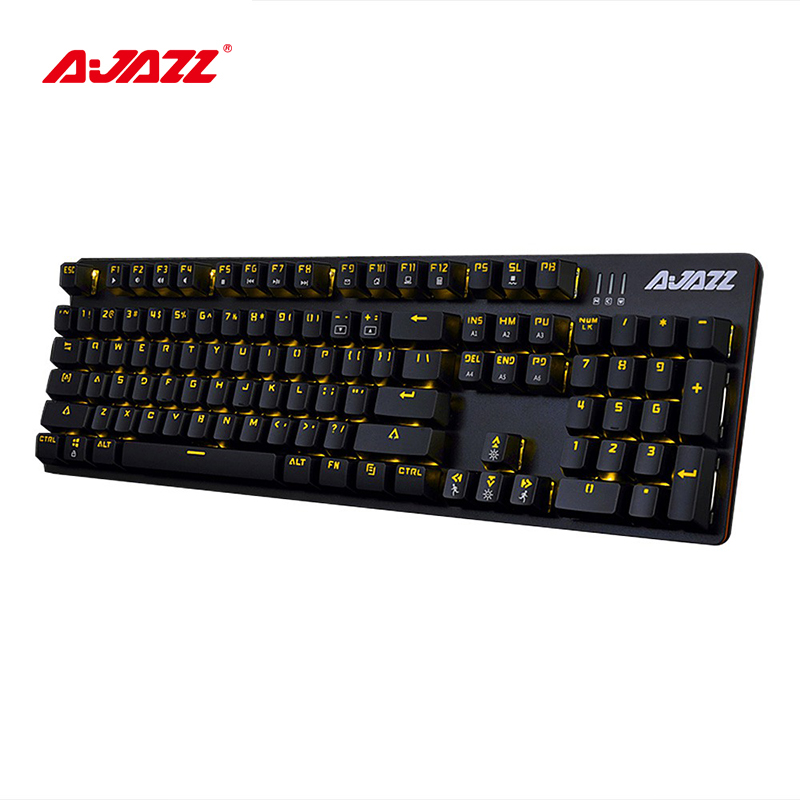 Ajazz ROBOCOP 104 Keys Wired Mechanical Gaming Keyboard Cool Backlight Brown/Black/Red/Blue Switches Anti-fatigue Classic Layout rainbow gaming backlight keyboard 87 keys colorful mechanical keyboard with blue black switches desktop for pc laptop