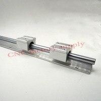 Free Shipping SBR12 12mm Rail Length 300mm To 600mm Linear Guide With 2pcs SBR12UU Set Cnc
