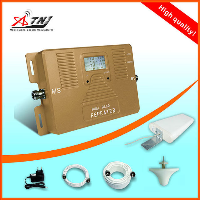 LCD display!2G 3G DUAL BAND Smart mobile signal booster 900/1800mhz speed call phone signal repeater amplifier 2g 4g  kit