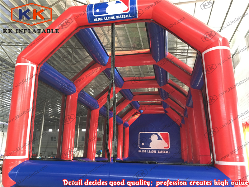 Cage de battage de vitesse gonflable commerciale pour la pratique de baseball