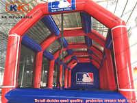 Komercyjne nadmuchiwane prędkości klatka dla miotaczy dla trening baseballa