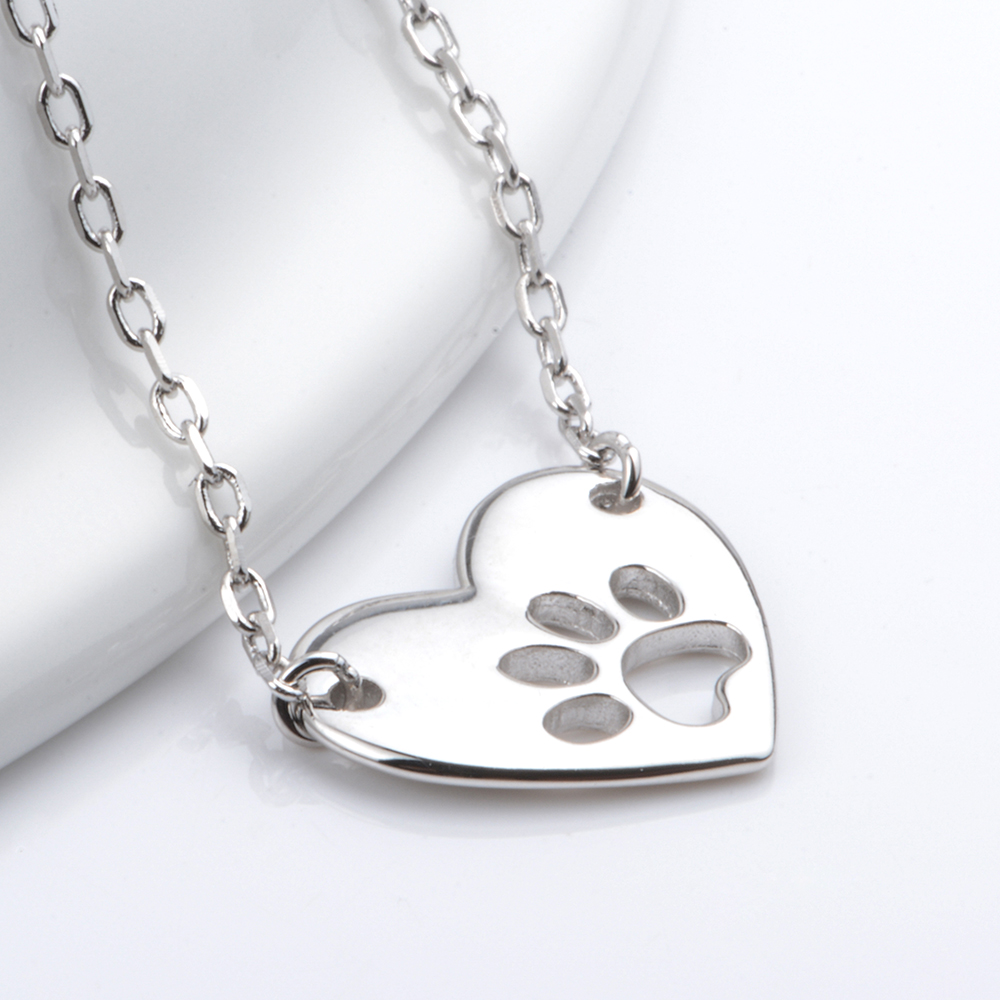 925 sterling silver dog paw pendants necklaces for women 925 sterling silver dog paw pendants necklaces for women multilayer gold color pendant chain necklace fashion jewelry gifts in pendant necklaces from aloadofball Gallery