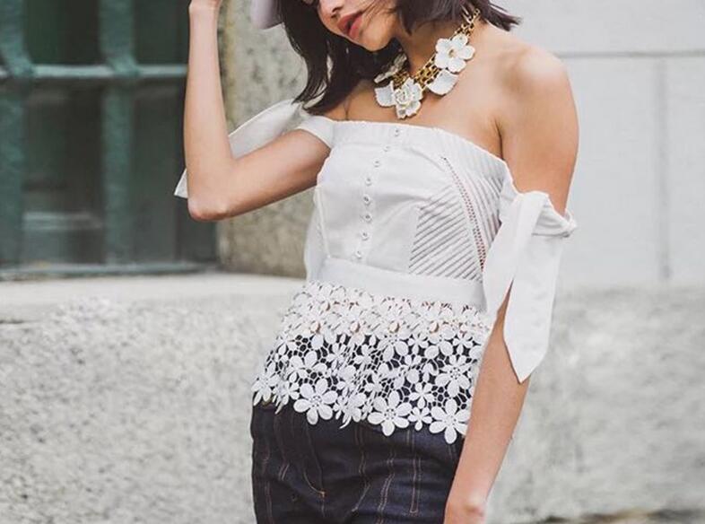 Sexy Off Shoulder Top Beading Women Blouse Shirt Blusas Female Blouses Beach Floral Tops Transparent mesh bow tank top