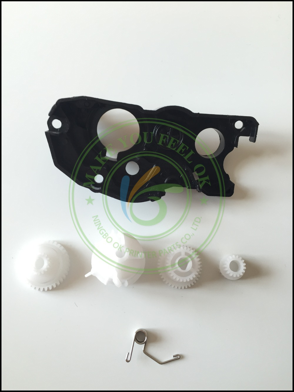 COMPATIBLE NEW flag reset lever gear end cap side cover plate with spring for Brother DCP7055 TN2015 HL2130 HL2132