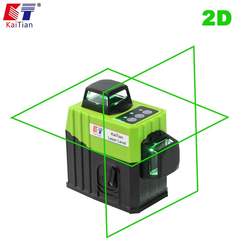 купить KaiTian 8Lines 2D Laser Level Tripod Self-Leveling 360 Horizontal 532nm Vertical Corss Green Laser x Beam Line Nivel Level по цене 9298.65 рублей