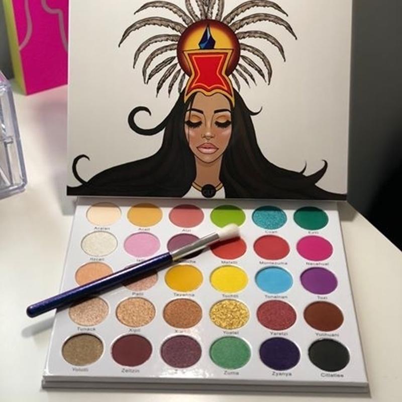 ZHENDUO 30 Colors shimmer matte glitter Eyeshadow Palette  Nude Eye shadow beauty makeup