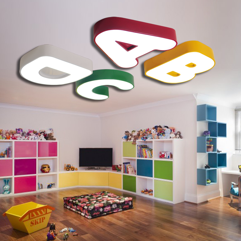 Children lamp cute alphabet lamp Ceiling Lights Childrens room boy bedroom warm romantic nursery top lamp ET85