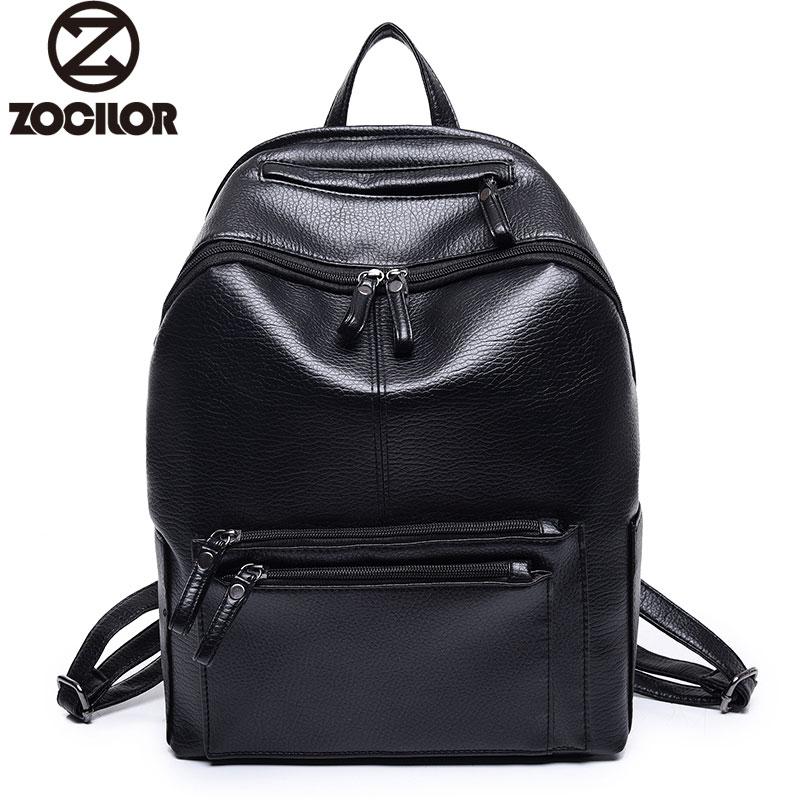 Women Backpack High Quality PU Leather Mochila Escolar School Bags For Teenagers Girls Vintage Top-handle Backpacks