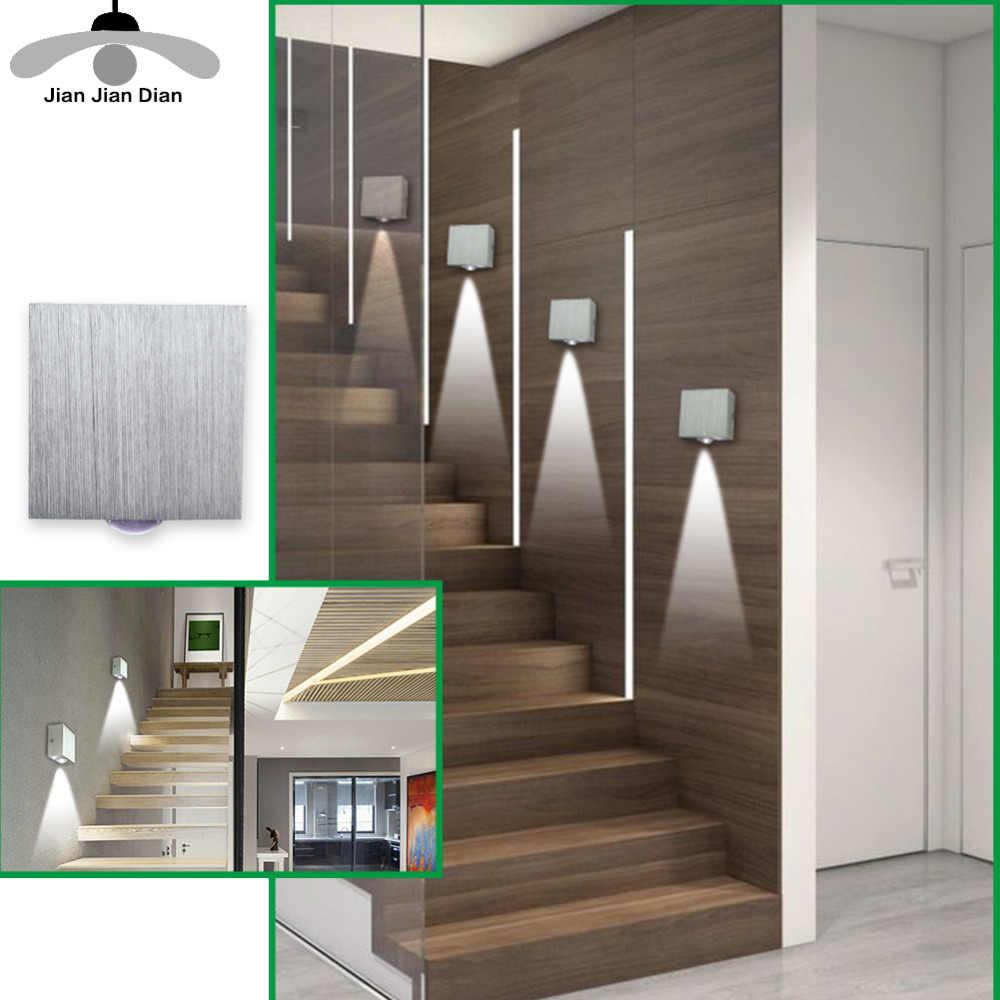 Led duvar lambası Modern aplik merdiven aydınlatma armatürü oturma odası yatak odası yatak başucu kapalı ışık ev koridor çatı düzensiz