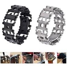 Купить с кэшбэком 29 in 1 Multifunctional Tread Bracelet Stainless Steel Outdoor Bolt Driver Kits Travel Friendly Wearable Multitool Hand Tools L2