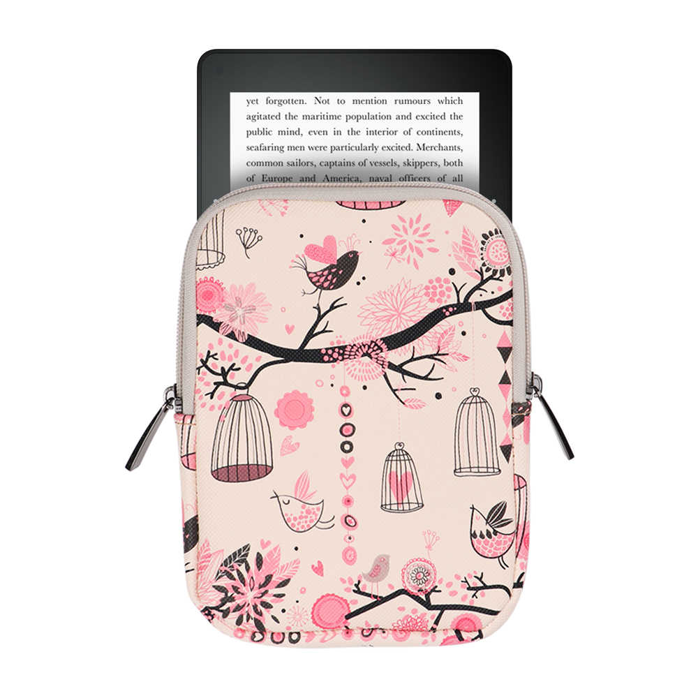 2019 new canvas print sleeve eReader Tablet bag for Amazon Kindle  Paperwhite 1 2 3 4 2018 6 inch cover ebook cover