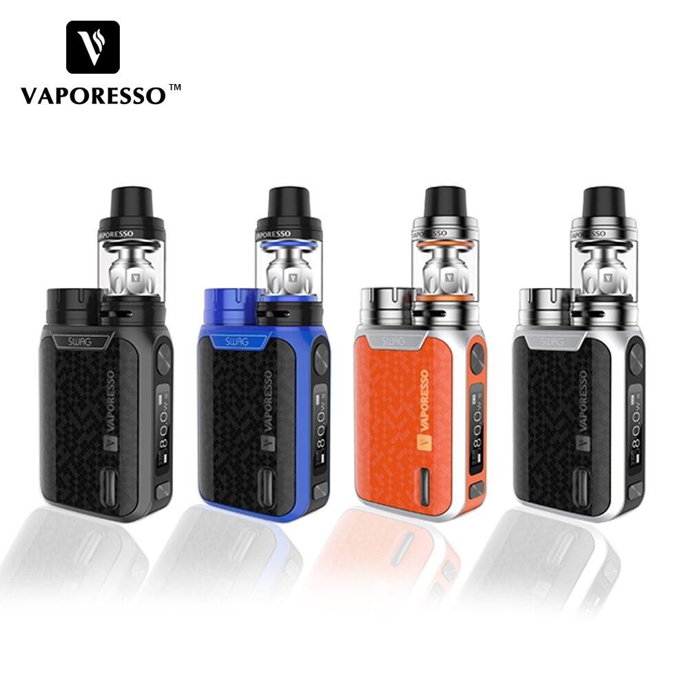 Original vaporesso Swag kit 80 W Swag caja mod NRG se tanque (3.5 ml) /Mini (2 ml) tanque no 18650 batería e-cigarrillos vape mod 2017 Nuevo