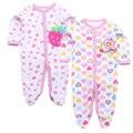 2 pçs/lote Bodysuit Do Bebê 100% Algodão Outono Newborn Body Manga Longa Cueca Próxima Infantil Menino Menina Pijamas Roupas