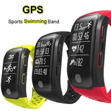 GPS спортивные Smart Band IP68 Водонепроницаемый Одежда заплыва браслет bluetooth сердечного ритма Мониторы Фитнес трекер измерения пробег S908 часы