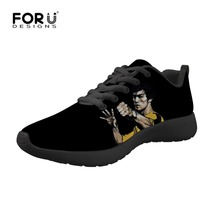 FORUDESIGNS Bruce Lee Men Casual Shoes Men Sneakers Men Shoes Male Flats Breathable Mesh Slip On High Quality Walking Shoes