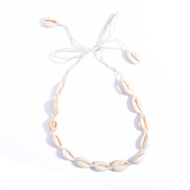 Sea Shell Choker Necklace Jewelry Bohemian Beach Tassel Necklace Shell Chain For Women Collar Chocker 2017 Fashion SY369032