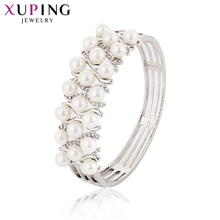 Xuping Luxury Bangles for Temperament Ladies Imitation Pearl Exquisite  Jewelry High Quality Boxing Day Gifts S165.5-51051