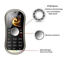 SERVO S08 Fidget Spinner Mobile Phone 1.3inch Dual SIM Card GPRS Bluetooth FM Radio Hand Spinner Cellphone With Russian Keyboard