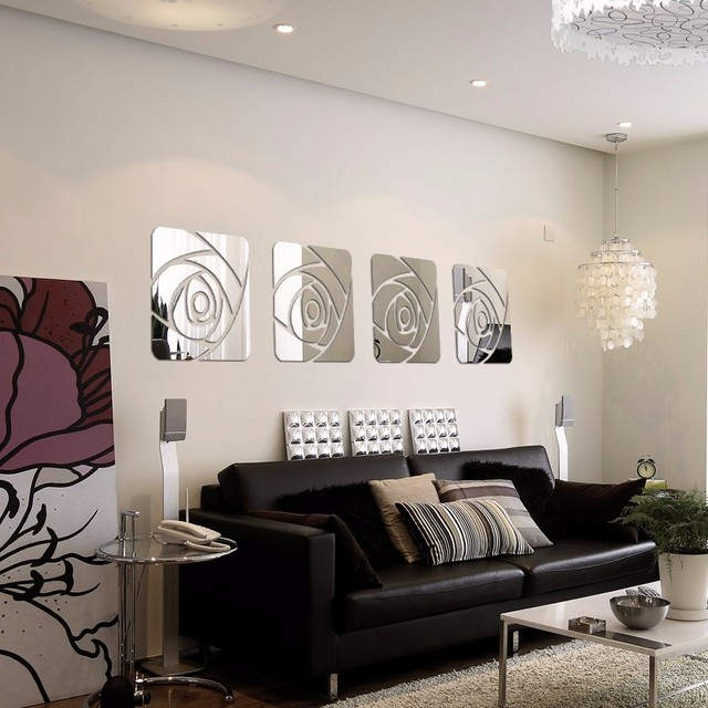 Famoso Adesivi Murali Specchio 3D Decorativo Moderno Acrilico Wall  ND99
