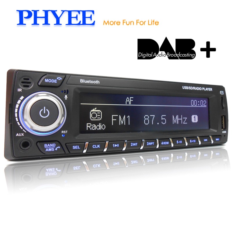 PHYEE Dab Car Radio Autoradio 1 Din Stereo Audio MP3 Player RDS FM AM App Functions USB TF ISO Connector Remotes SX-MP31089DAB image