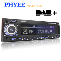 PHYEE Dab Car Radio Autoradio 1 Din Stereo Audio MP3 Player RDS FM AM App Functions USB TF ISO Connector Remotes SX MP31089DAB
