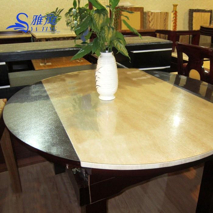 Doux tissu de table en verre table ronde pvc table transparente tampon de tissu imperméable jetable table à manger cristal chiffon de nettoyage
