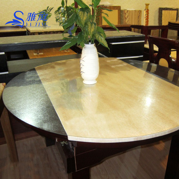 Soft Glass Table Cloth Round Table Pvc Transparent Table Cloth Pad - Table pads houston