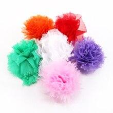 5 шт ручной работы простой цвет кружева цветок для самодельные банты для волос ткань, 5Yc2779