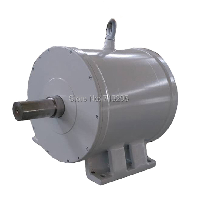 5KW 375RPM 240VDC horizontal wind&hydro alternator/ permanent magnet water power dynamotor hydro turbine new energy