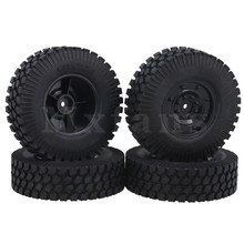Mxfans 10cm Dia RC 1 10 Gravel Pattern Rubber Tire Plastic Imitate Wheel Rims for Rock