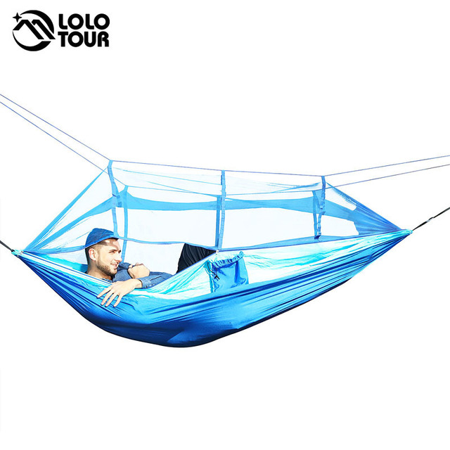 Drop Shipping Portable Mosquito Net Hammock Tent With Adjustable Straps And Carabiners Large Stocking  21 Colors In Stock 5