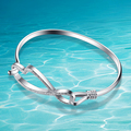 925 sterling silver bracelet bangle woman delicate silver ornament. Shiny frosted design. Beautiful shape fashion