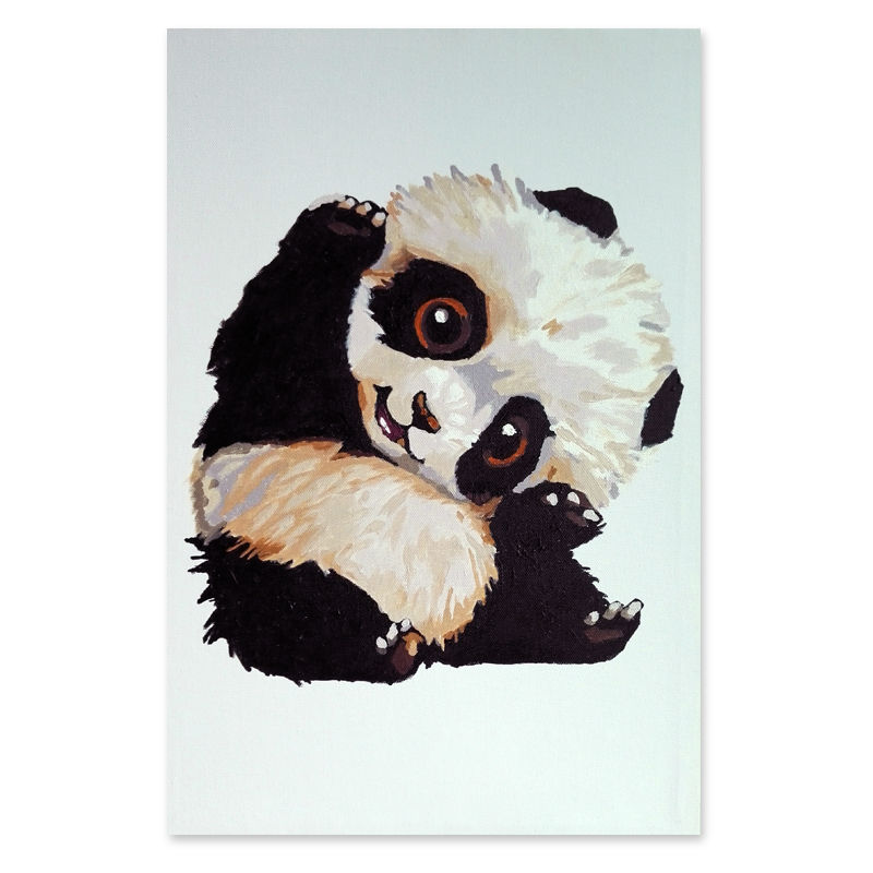 Framed Pictures DIY Painting By Numbers Of Cute Panda Art Digital Canvas Oil Home Decor For Kids Room In Calligraphy From