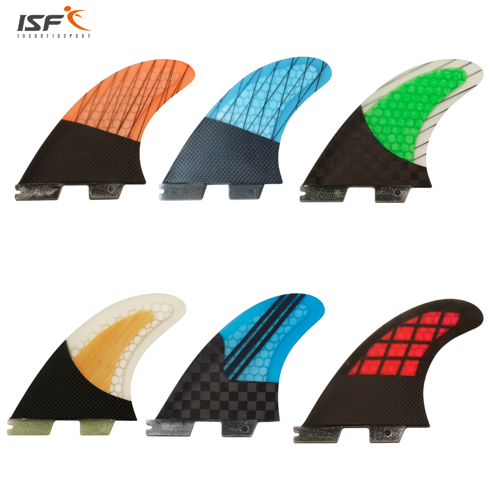 Meilleur vente de haute qualité de carbone en fiber de verre en nid d'abeille quilhas fcs 2 surf ailettes fcs ii ailettes propulseur planche de surf ailettes G5