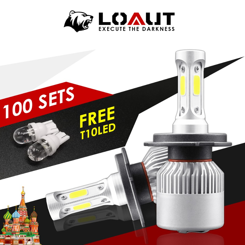 200 Pieces Set Headlight Automobiles Led Bulb for Auto h4 Fog Lights for Lada 16000lm 80W 6000K Ship from Russian Gift Free