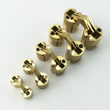 цена HOT 20PCS Copper Barrel Invisible Cross Hinges Hidden Concealed Cabinet Brass Hinges Folding Door Hinge Furniture Hardware