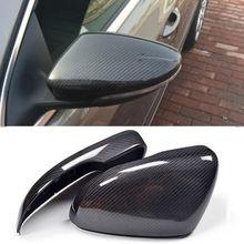 Одна пара левые и правые из углеродного волокна заднего вида боковое Зеркало Обложки шапки для VW Beetle CC Eos Passat Jetta Scirocco