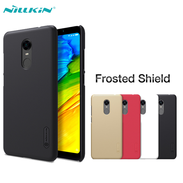 timeless design f5aaf 79d9a US $7.99 |Xiaomi Redmi 5 Plus Case NILLKIN Super Frosted Shield Matte Hard  PC Back Cases For Xiaomi Redmi 5 Cover With Screen Protector-in ...
