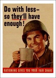Image 2 - World War vintage Retro Kraft  Poster. World War 1, World War 2 propaganda poster retro poster style decorative/901