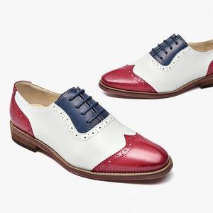 Image 2 - Yinzo נשים של דירות אוקספורד נעלי אישה עור אמיתי סניקרס ליידי נעלי בציר נעליים יומיומיות לנשים בעבודת יד 2020 אביב
