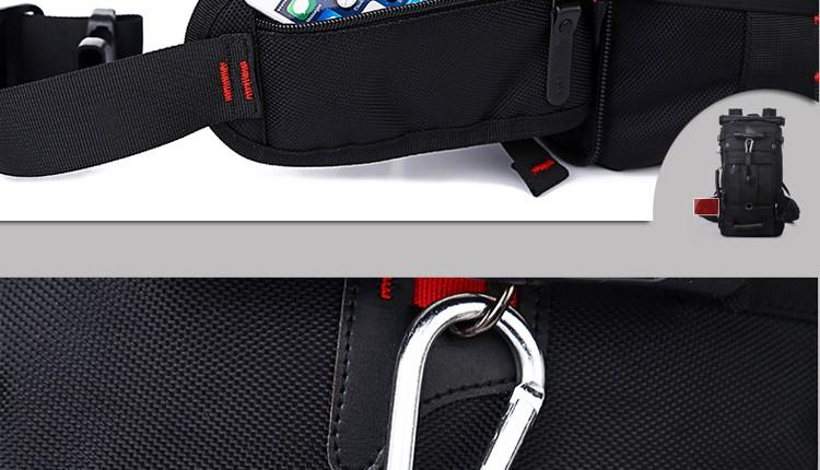 KAKA Men Backpack Travel Bag Large Capacity Versatile Utility Mountaineering Multifunctional Waterproof Backpack Luggage Bag 25