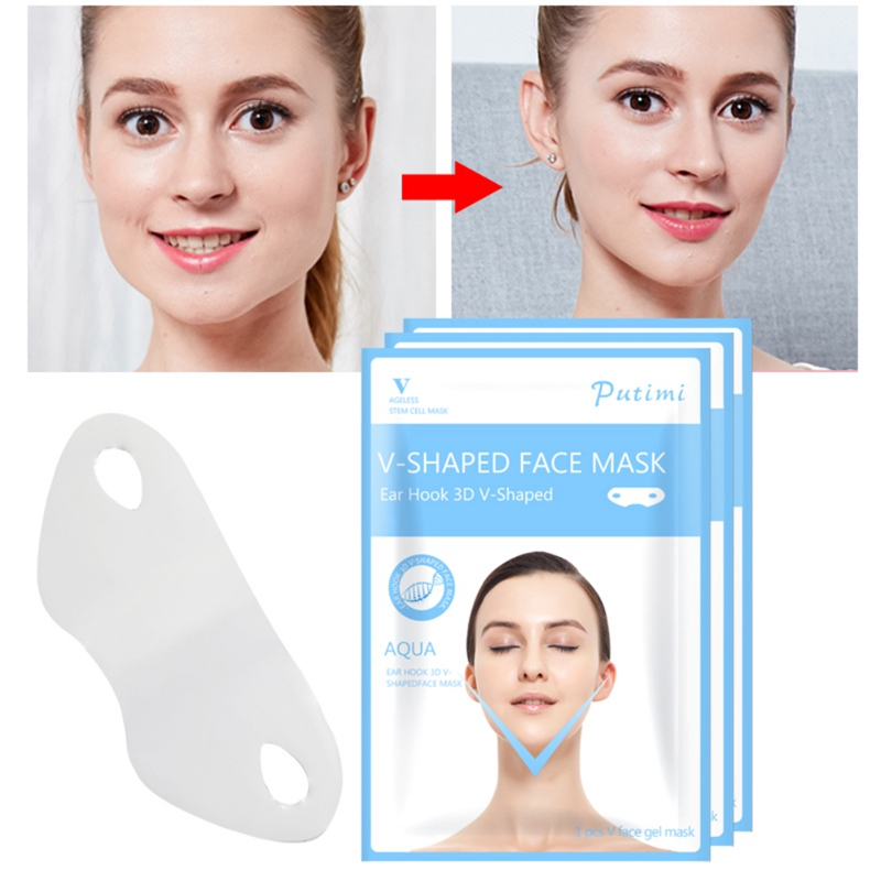 Gesichtspflege-utensilien V Form Hebe Gesichts Maske Gesicht Dünne Kinn Überprüfen Neck Lift Peel-off Maske V Former Gesichts Abnehmen Bandage Maske Hautpflege Hautpflege-utensil