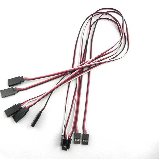5/10 шт. 150 / 200 / 300 / 500 мм сервоудлинитель кабель для RC Futaba JR штекер-гнездо 30 см