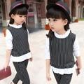 Girls clothing sets 2016 Baby girl Clothes Children fashionable set cute Stripe T-shirt+pants clothing blouse design