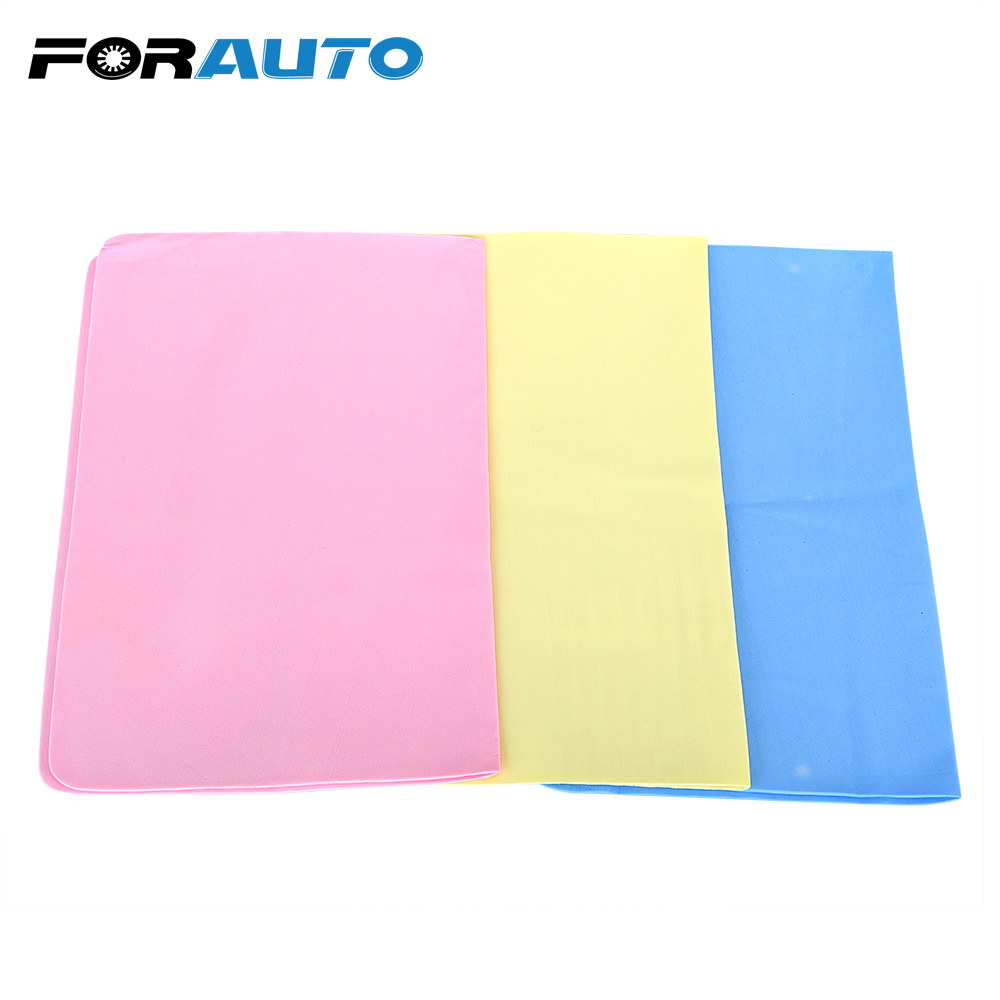 FORAUTO 39x29cm Car Wash Towel Synthetic Suede Car Auto Care Detailing Cleaning Cloths Car-styling Super Absorption