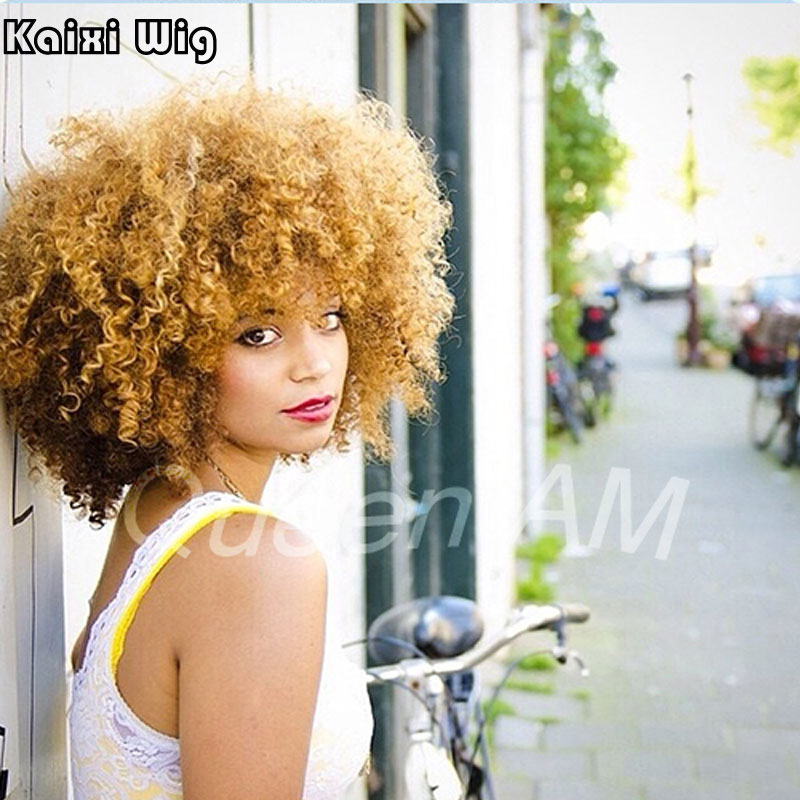 Blond Afro Wigs 3