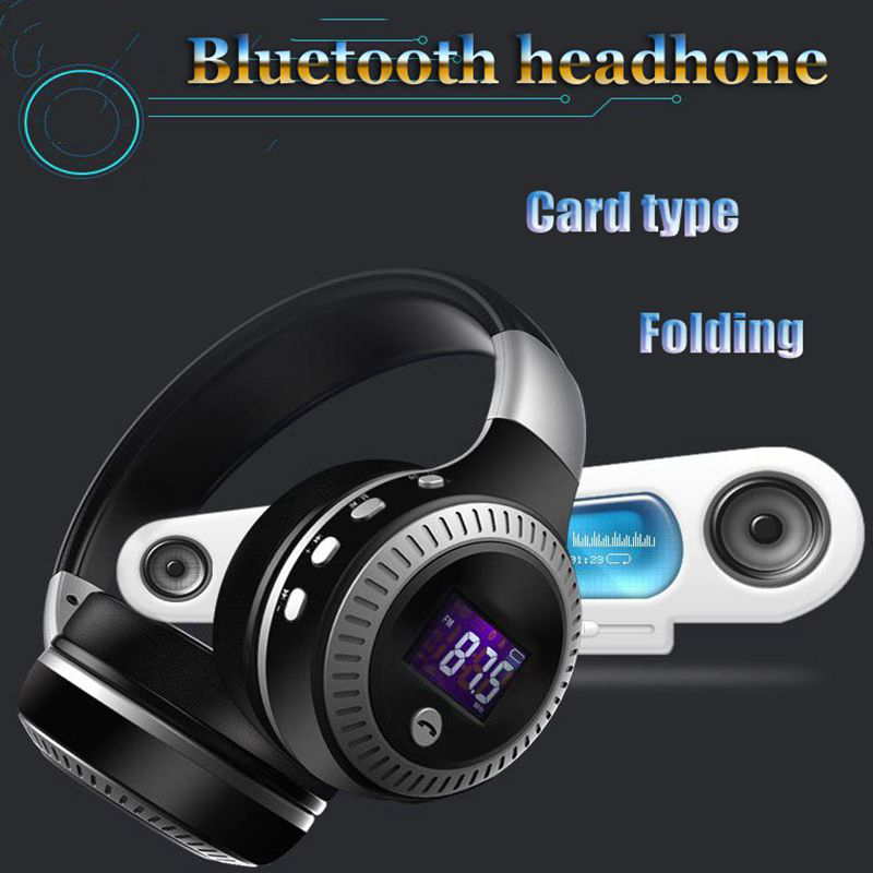 Hot sale B19 LCD Monitor Foldable Hi-Fi Bass Stereo Wireless Bluetooth Headset Microphone, FM Radio, Mini SD Card Slot buy monitor jb hi fi