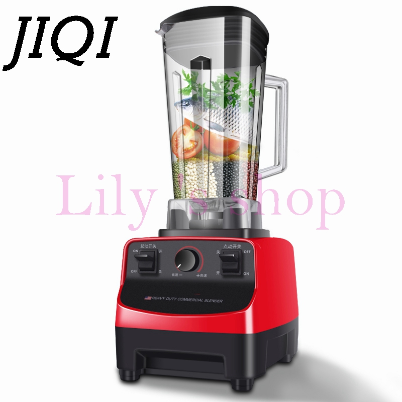 JIQI Commercial electric Blender Soybean grinding machine fruit Smoothie Extractor juicer Milk Shake jam mixer Food processor 2L 2l wholesale fruit mixer manual smoothie blender juicer meat grinder with digital temperature control